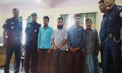 পটুয়াখালীতে সন্দেহভাজন চার 'জঙ্গি' আটক
