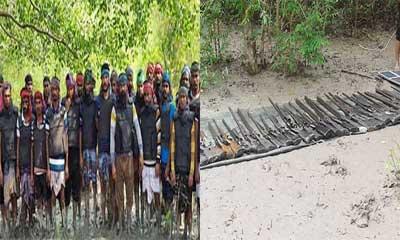 আত্মসমর্পণ করল ২ জলদস্যু বাহিনীর ২৫ জলদস্যু