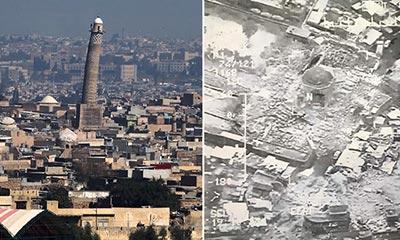 ৮০০ বছরের প্রাচীন মসজিদ উড়িয়ে দিল আইএস