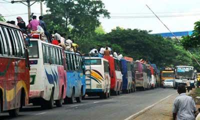ঢাকা-টাঙ্গাইল সড়কে যানজট, ভোগান্তি