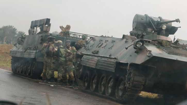 অভ্যুত্থানের পর সেনাবাহিনীর নিয়ন্ত্রণে জিম্বাবুয়ে