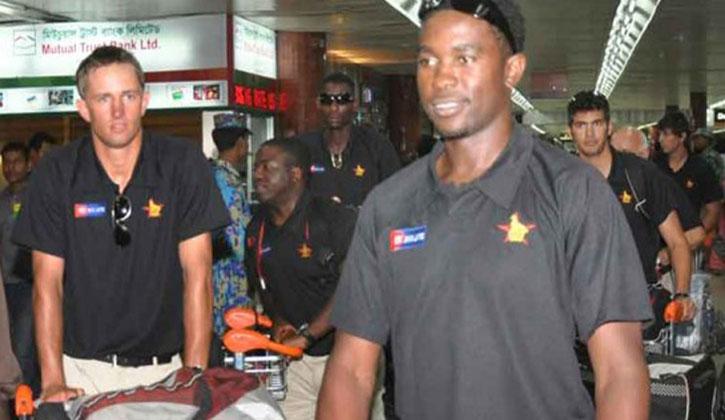জিম্বাবুয়ে ক্রিকেট দল এসে পৌঁছাল ঢাকায়