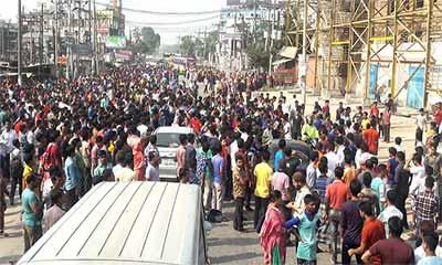 রূপগঞ্জে ঢাকা-সিলেট মহাসড়ক অবরোধ