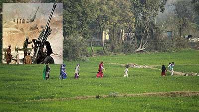 পাক-ভারত সীমান্তে ব্যাপক গোলাগুলি: পালাচ্ছে গ্রামবাসী