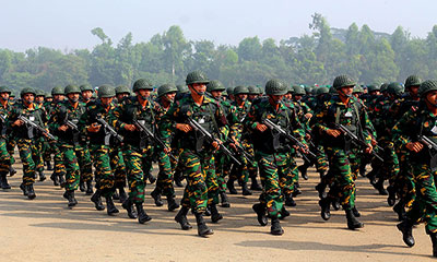 লোক নিচ্ছে বাংলাদেশ সেনাবাহিনী