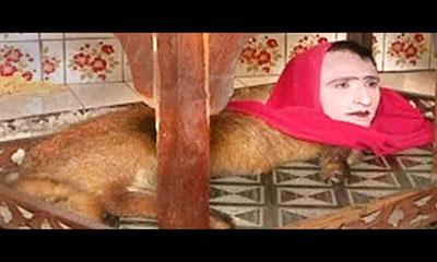 চিড়িয়াখানায় অদ্ভুদ প্রানী : দেহ জানোয়ারের, মুখ মানুষের (ভিডিও)