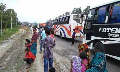 রংপুর-ঢাকা মহাসড়কে যান চলাচল স্বাভাবিক