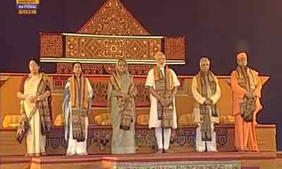 শান্তিনিকেতনে হাসিনা-মোদি-মমতা