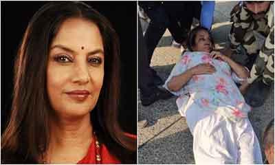 সড়ক দুর্ঘটনায় আহত অভিনেত্রী শাবানা আজমি