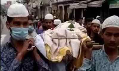 হিন্দু বৃদ্ধের সৎকারে নেই আত্মীয়-স্বজন, লাশ কাঁধে নিলেন মুসলিমরা