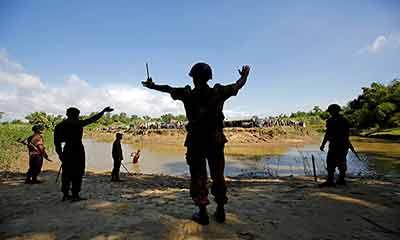 তমব্রু সীমান্তে এবার স্লুইচ গেইট নির্মাণ করছে মিয়ানমার