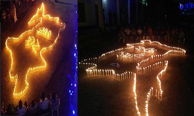 মির্জাপুরে শহীদদের স্মরণে মোমবাতি প্রজ্জ্বলন