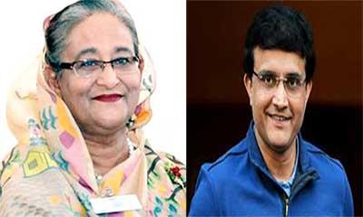 ভারত-বাংলাদেশ টেস্টে শেখ হাসিনাকে গাঙ্গুলীর আমন্ত্রণ