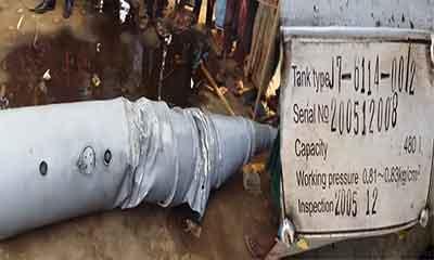 গফরগাঁওয়ে আকাশ থেকে পড়লো বিমানের তেলের ট্যাংক