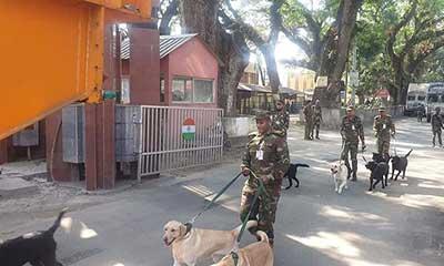 বাংলাদেশ সেনাবাহিনীকে ১০টি কুকুর উপহার দিলো ভারত